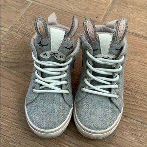 Girls Bunny High Top Sneakers